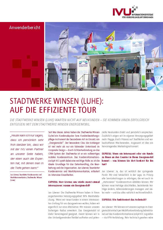 IVU.Dashboard bei den Stadtwerken Winsen (Luhe)