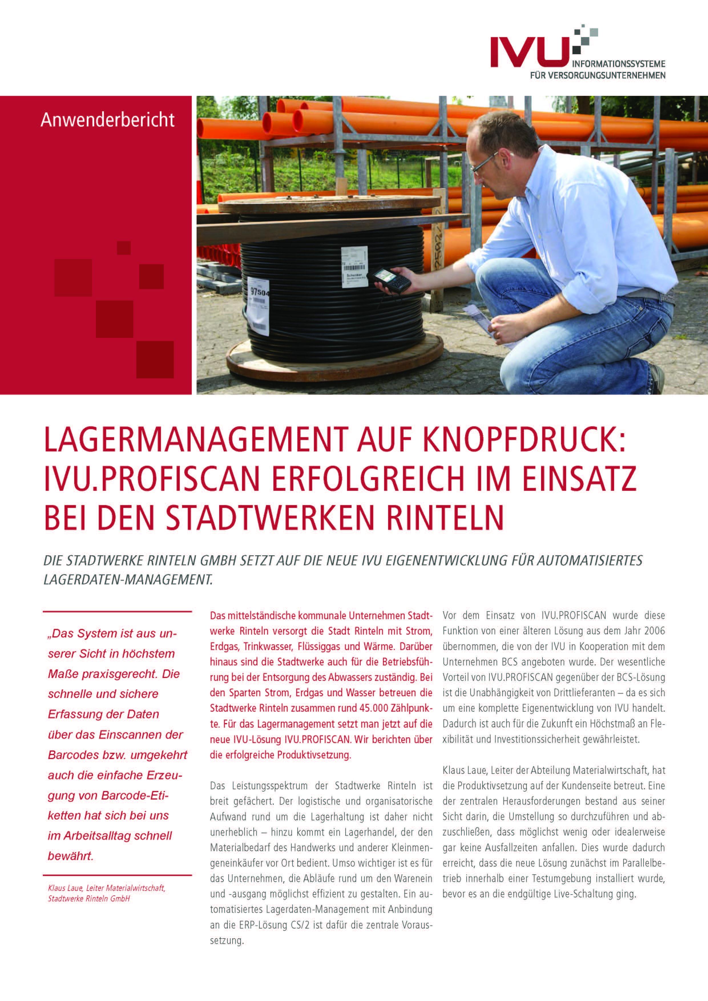 IVU.ProfiScan bei den Stadtwerken Rinteln