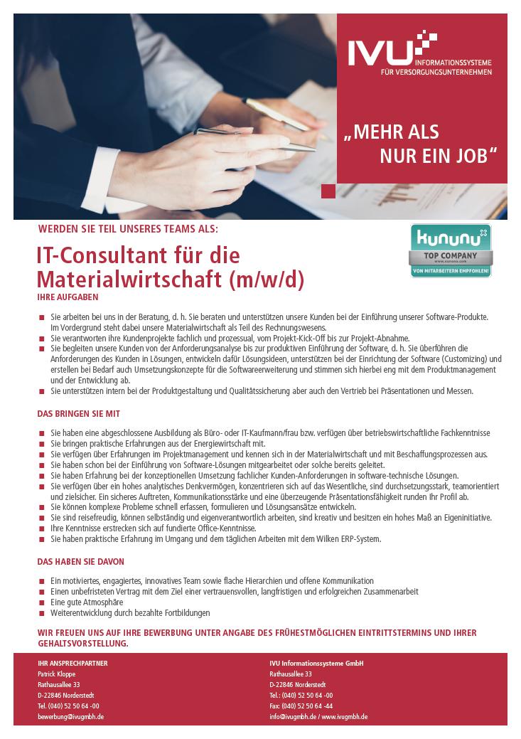 IT-Consultant Materialwirtschaft